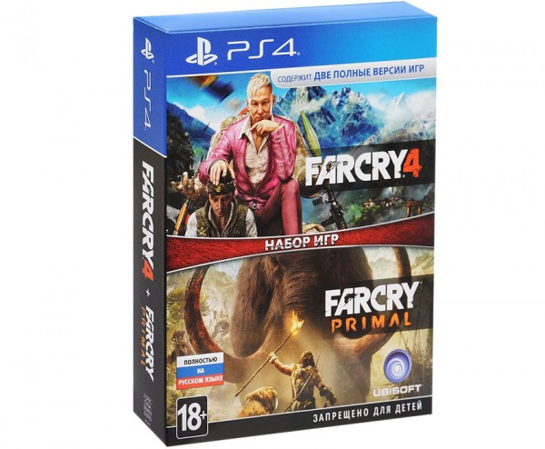 Комплект для PS4 Far Cry 4,  Far Cry Primal [PS4, русская версия]